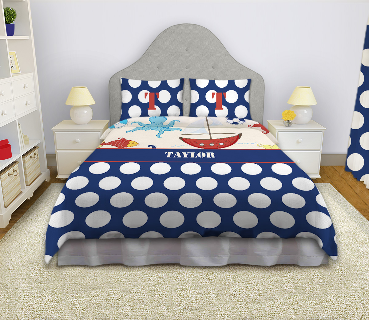 Little Boys Nautical Bedding Kids Bedding Set Sailboat