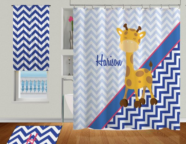 Giraffe-Chevron-Curtain