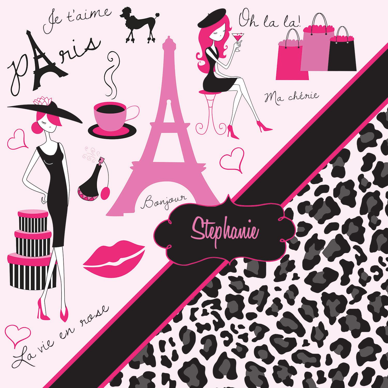 Cheetah Print Paris Bedding In Pink And Gray Animal Print