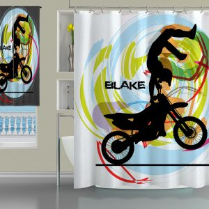 Shower-Curtain-Motocross