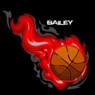 Basketball-Red-Flames