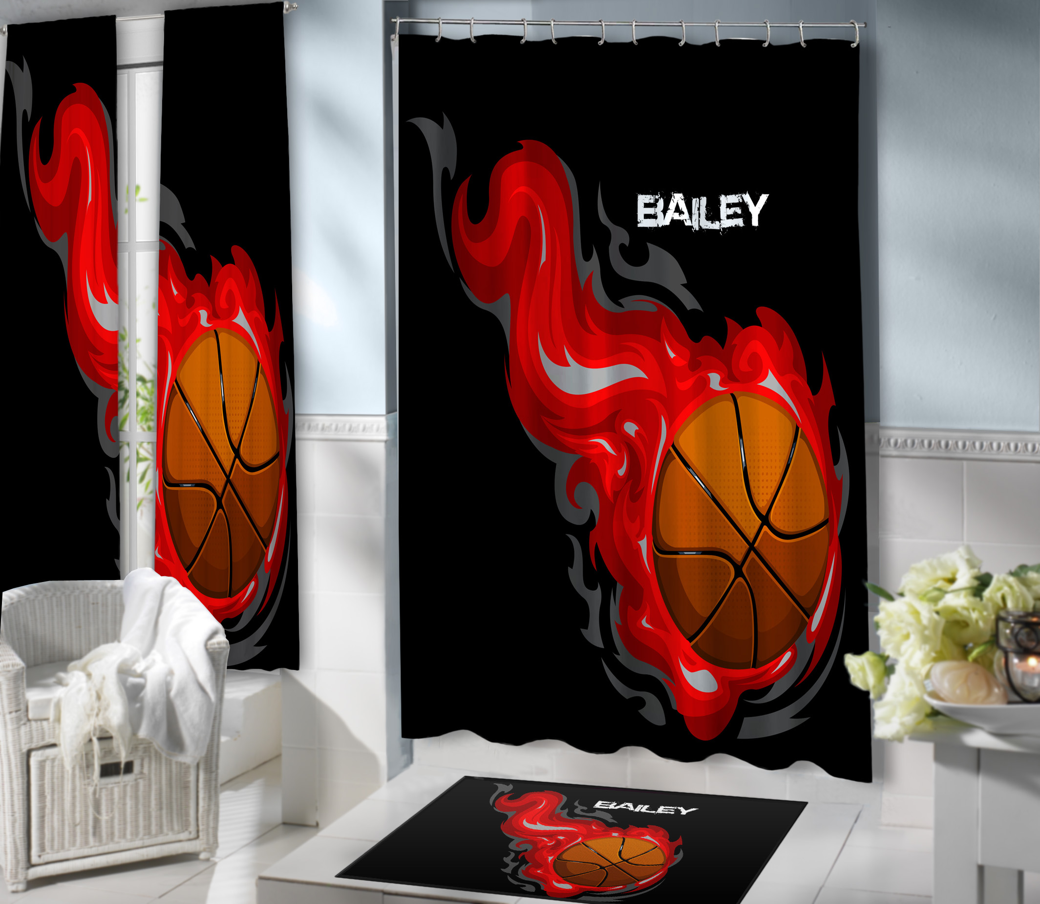 Basketball-Shower-Curtain