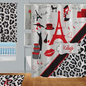 Bathroom-Paris-Red-Black