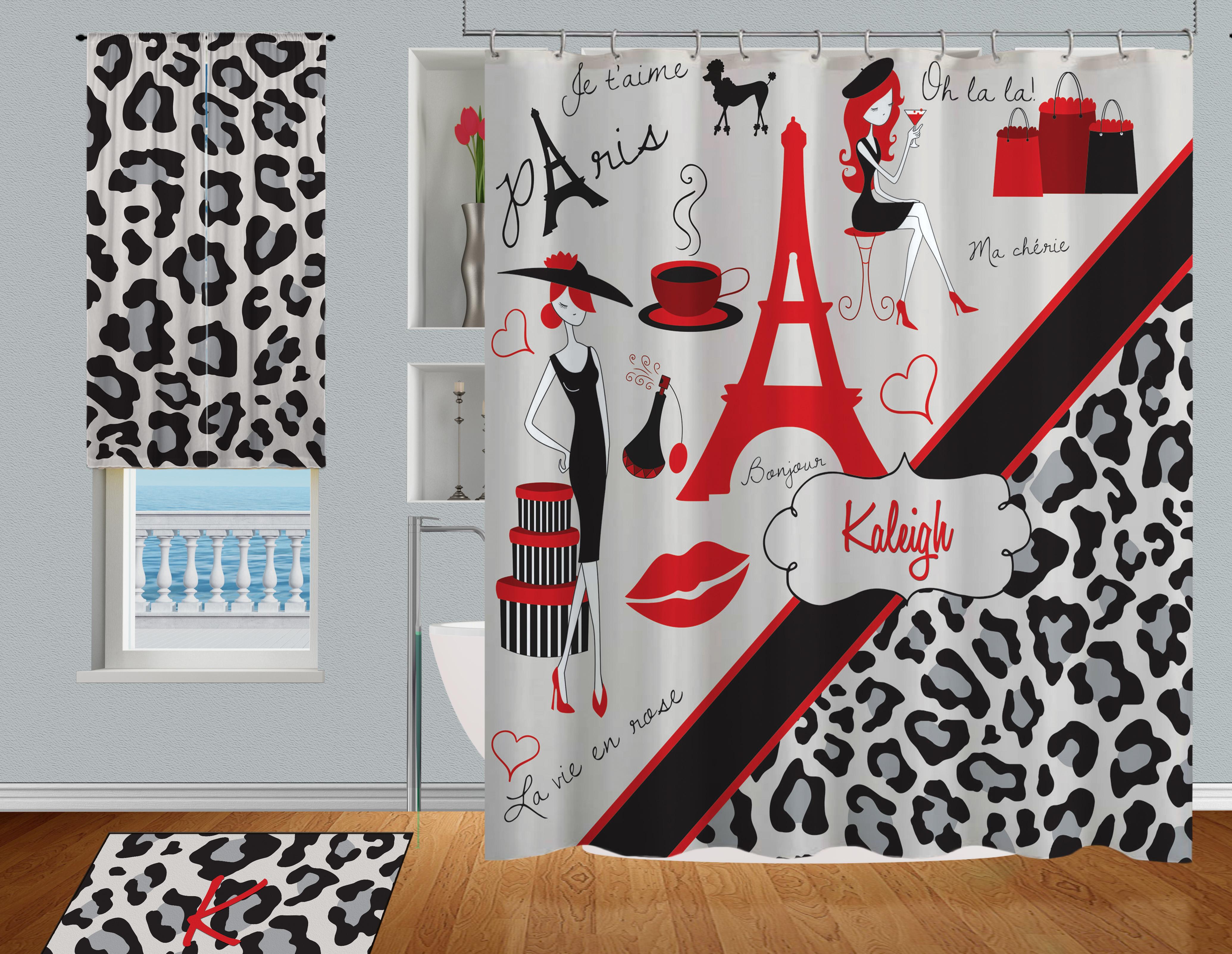 Bathroom-Paris-Red-Black