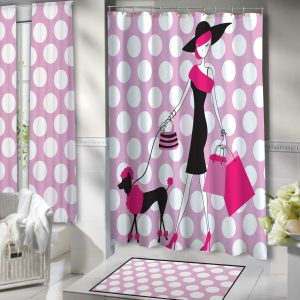 Bathroom-Pink-Poka-Dots