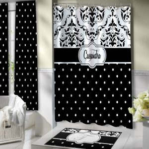 Bathroom-White-Black-Dot