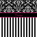 Black-White-Damask-Stripe