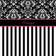Black-White-Damask-Stripe