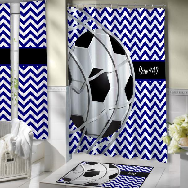 Blue-White-Bathroom-Soccer-Curtain