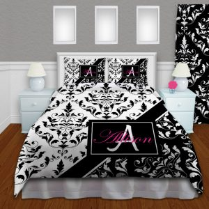 Damask-Black-White-Comforter