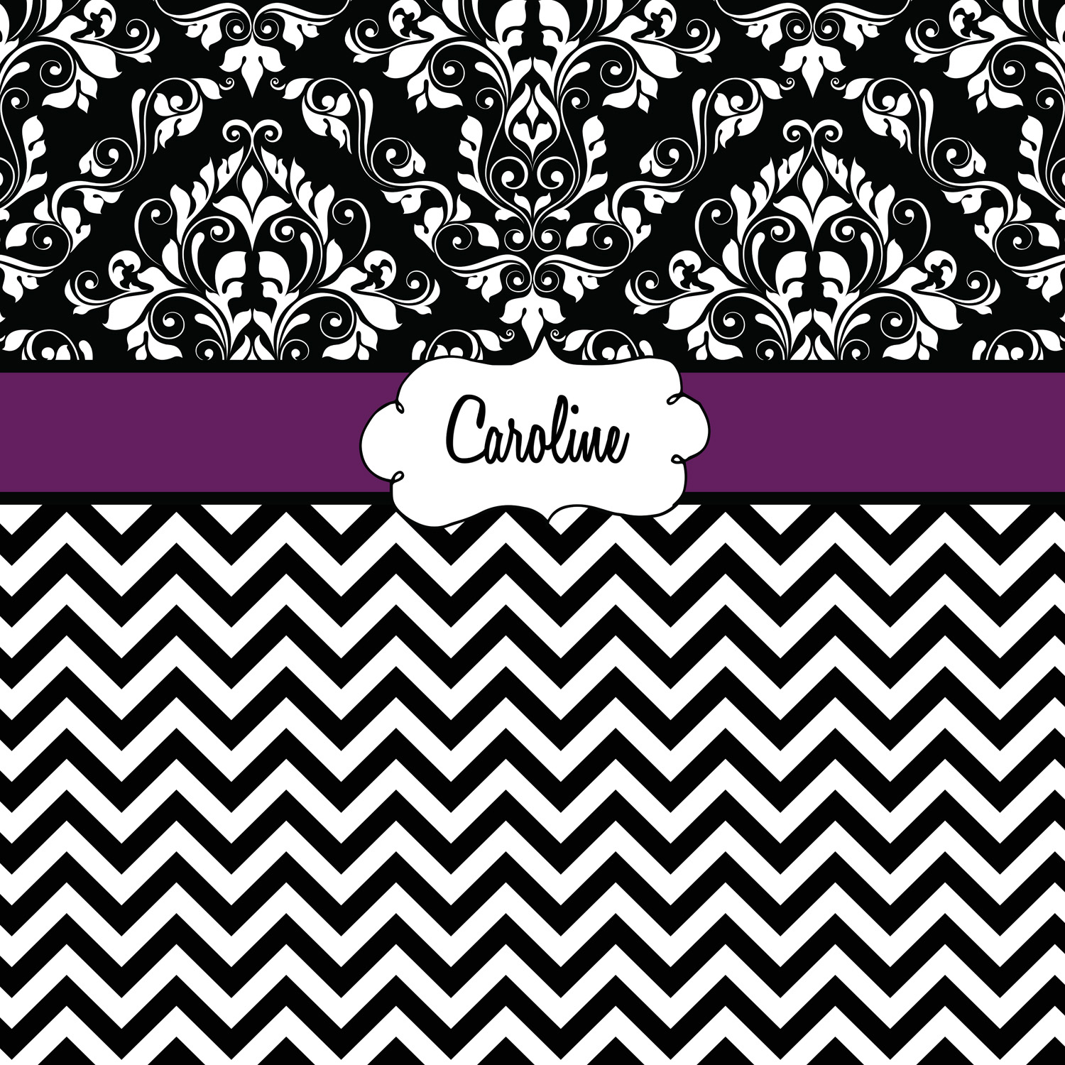 chevron patterned blanket with purple accent