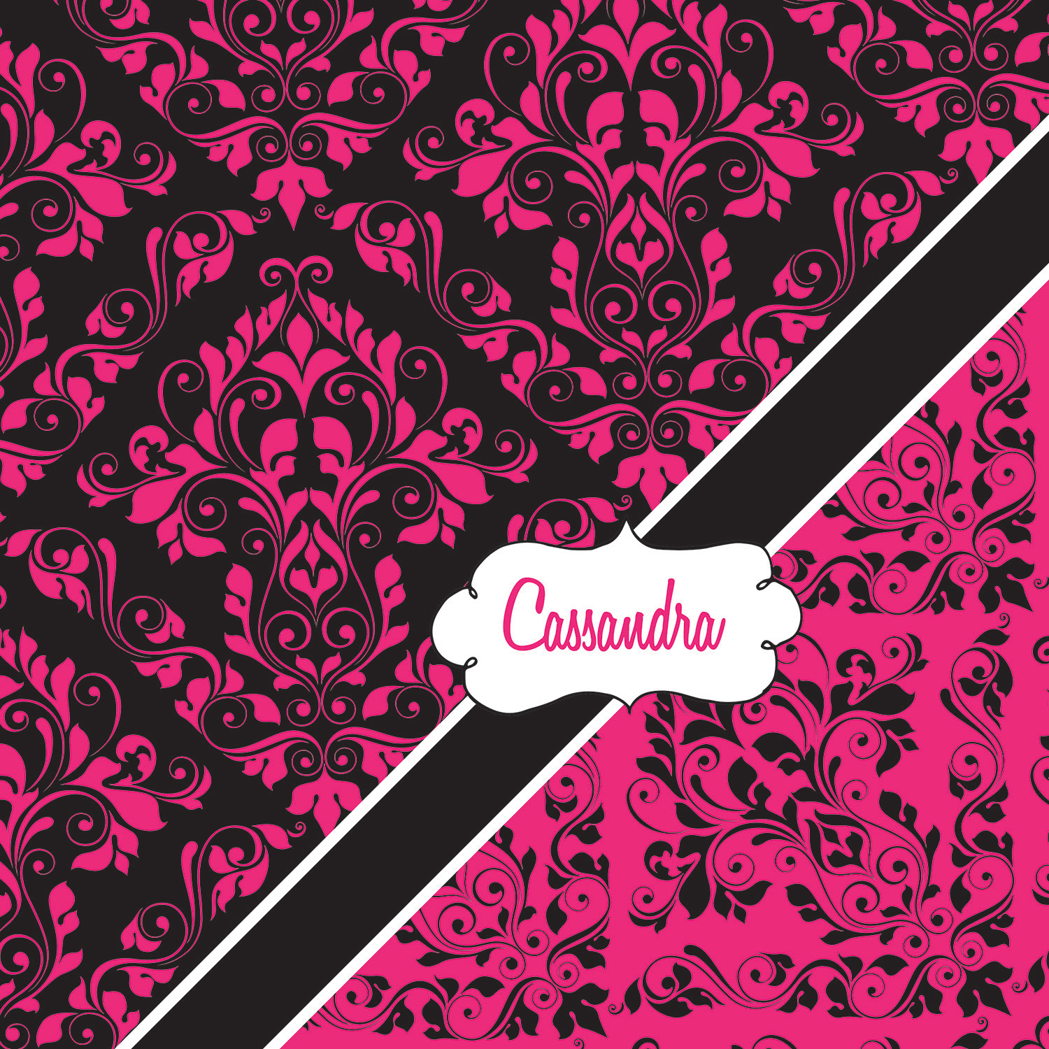 Personalized Pink And Black Shower Curtain Victorian Fabric Shower Curtain 29 Eloquent
