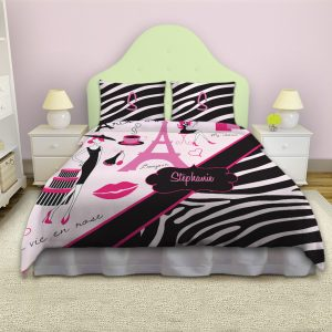 Paris-Bedding-Pink-Black