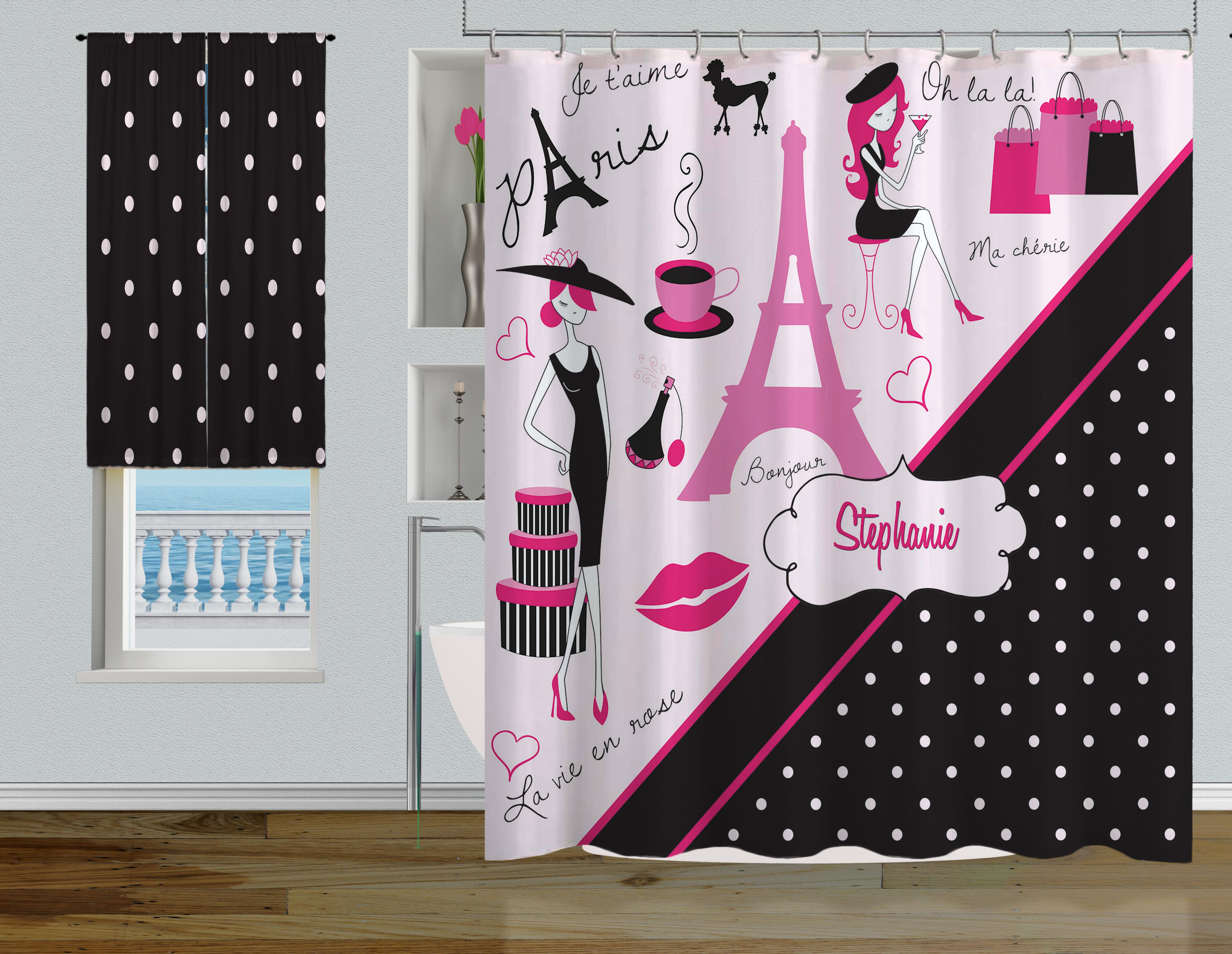 Polka Dot Themed Bathroom Decor Pink
