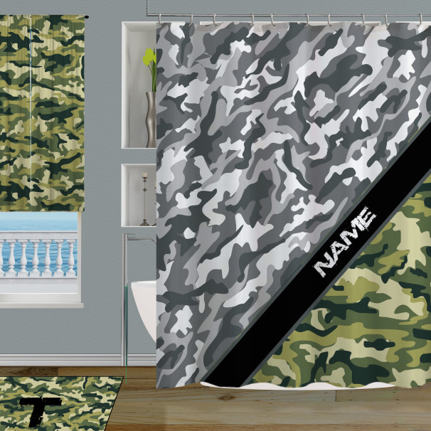 Personalize-Camo-Shower-Curtain