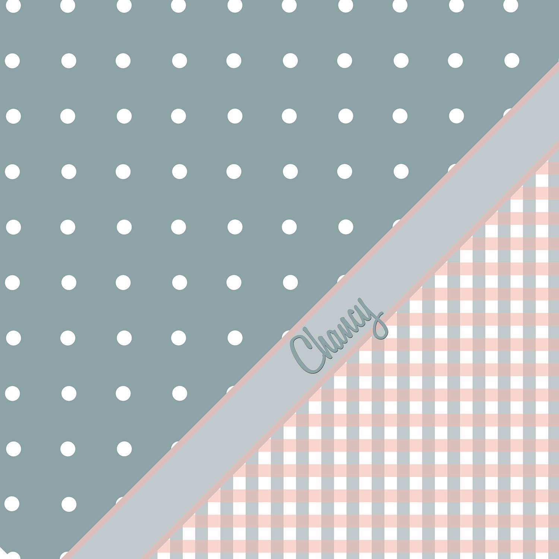 Pink Blue Plaid Shower Curtain
