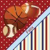 Red-Basketball-Baseball-Football