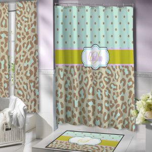 Shower-Blue-Green-Curtain-Print