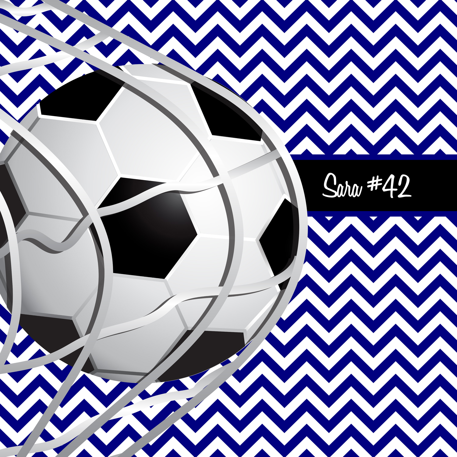 Black White And Blue Soccer Bedding For Kids And Teens