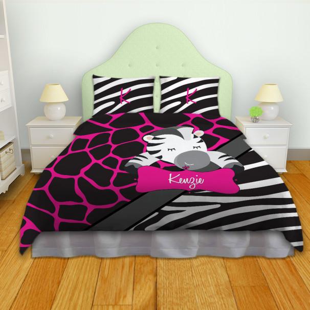 Zebra-Giraffe-Print-Bedding