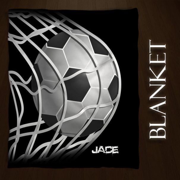 #146_SoccerBlack_Blanket