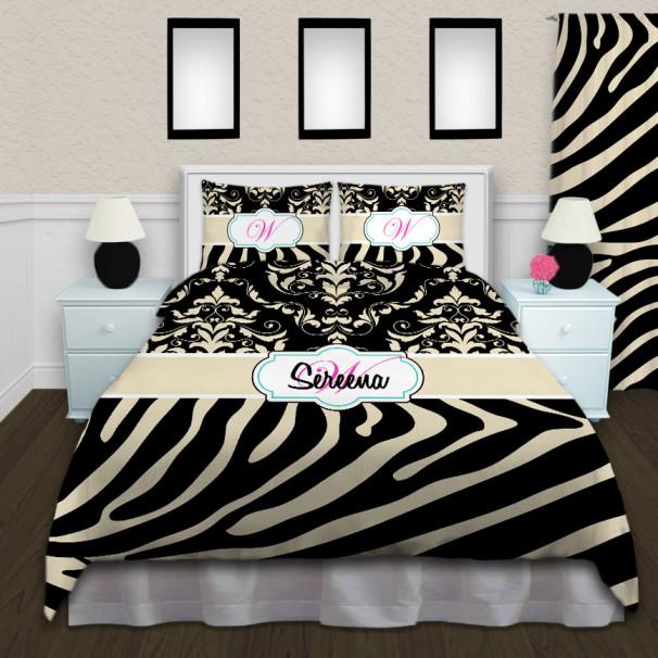 Animal-Print-Tan-Black-Comforter