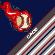 Baseball-Blue-Red-Striped
