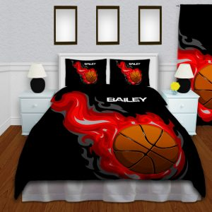 Basketball-Red-Comforter