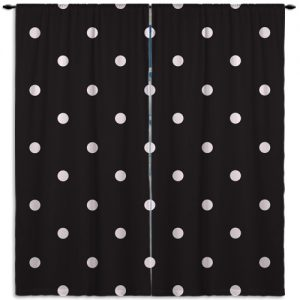 Pink And White Polka Dot Curtains on white ruffle blackout curtains