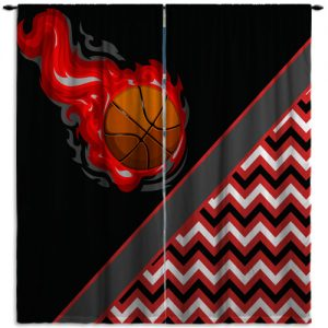 Black-Red-Basketball-Decor