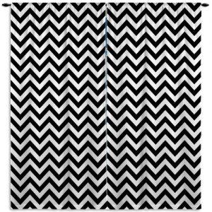 Black-White-Printed-Curtain