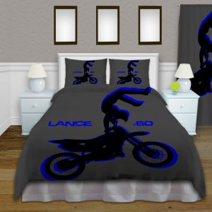 Blue-Dirt-Bike-Duvet-cover