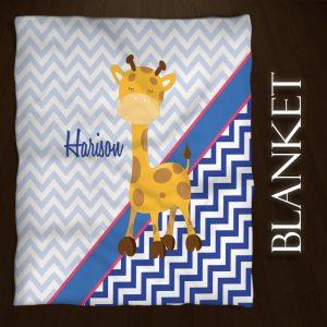 Blue-White-Giraffe-Throw