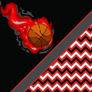 Chevron-Basketball-Red