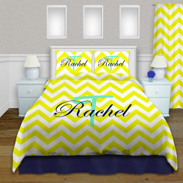 Colorful-Chevron-college-bedding