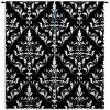 Damask-Curtain-Panel-Black-White