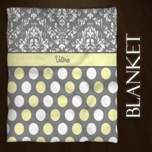 Damask-Dots-Yellow-Gray-Fleece