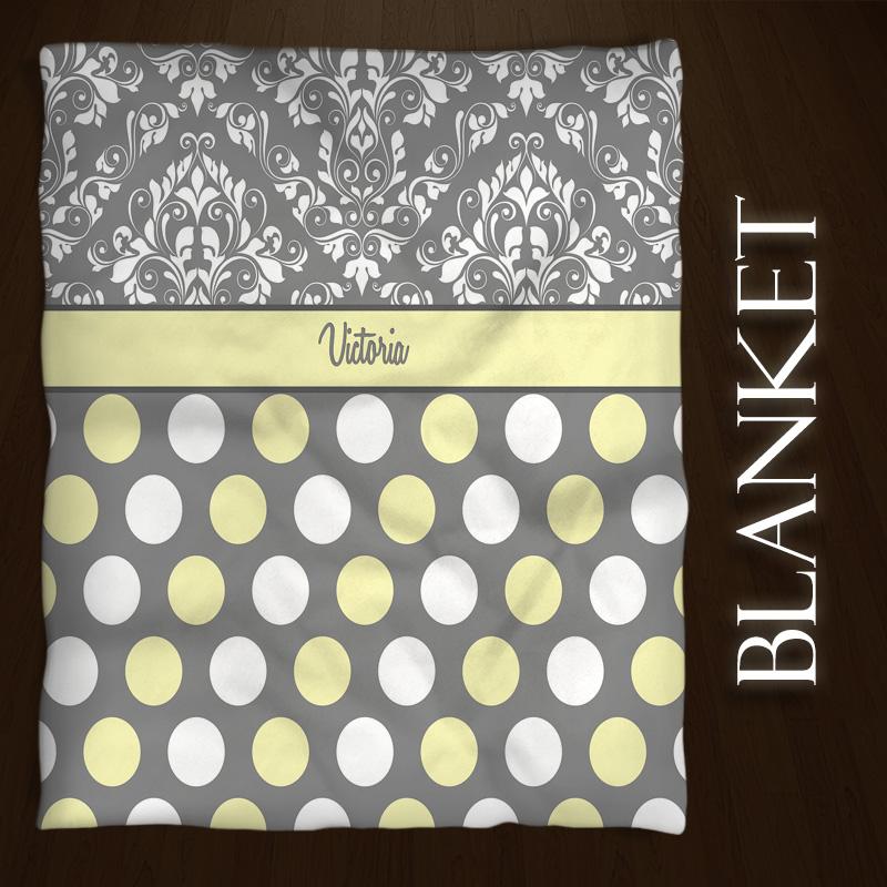 Damask-Dots-Yellow-Gray-Fleece