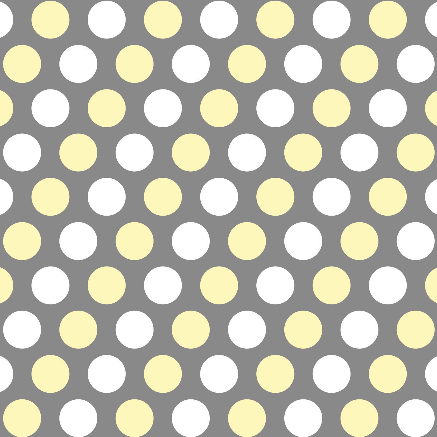 Gray And Yellow Kid Curtain Panels With White Polka Dots