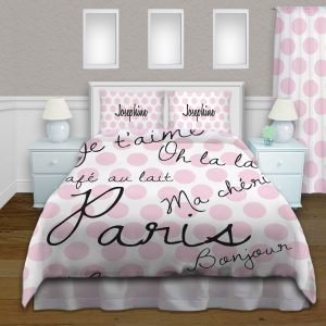 Dot-paris-Pink-Bedding