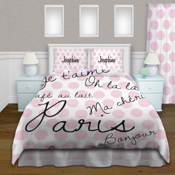 Dot-paris-Pink-Bedding