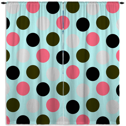 Dots-Pink-Aqua-Curtain