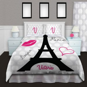 Eiffel-Tower-Black-White-Duvet