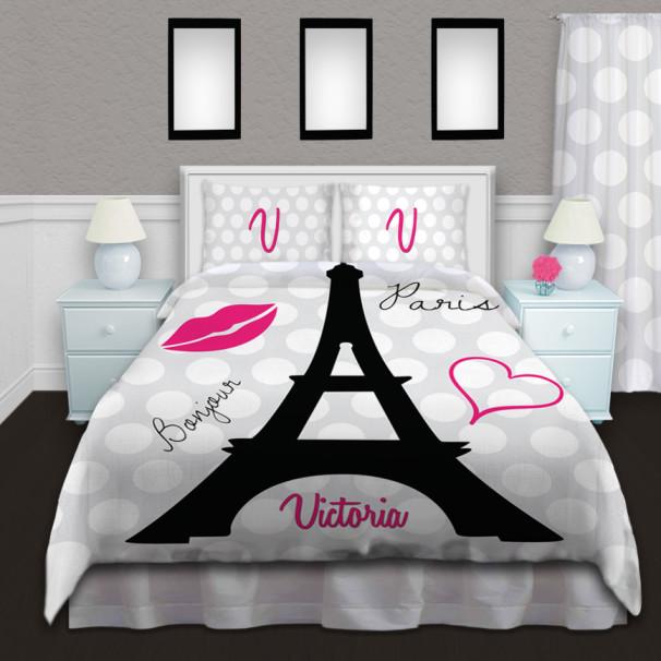 Eiffel-Tower-Black-White-Duvet