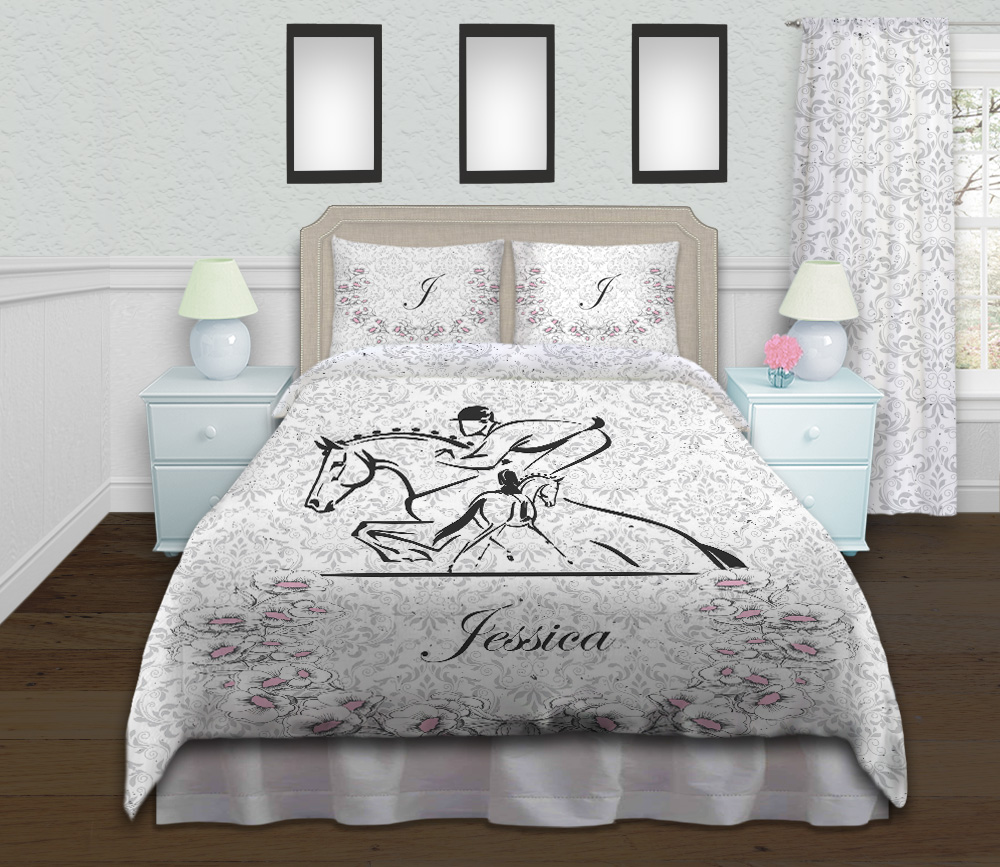 Horse Eventing Duvet Cover, Equestrian Themed Girls ...