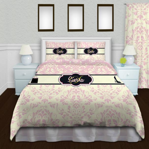 Fashion-Pink-Cream-Bedding