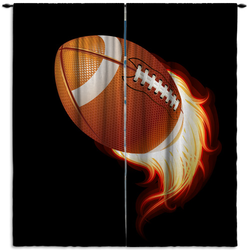 Football-Black-Window-Curtain