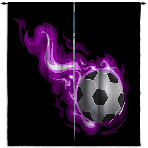 Girl Sports Soccer Curtain