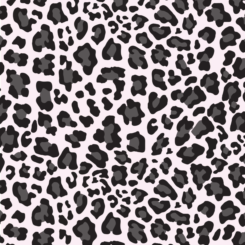 Gray And Black Cheetah Print Little Girls Window Curtains