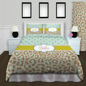 Green-Blue-Duvet-Animal-Print